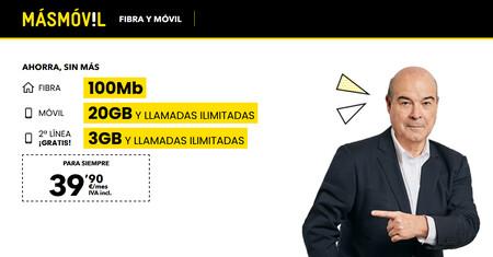 MásMóvil renueva sus tarifas de fibra y móvil con más datos por el mismo precio y mejoras en las líneas adicionales