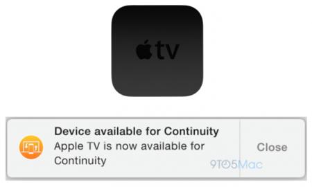 La fusión entre plataformas continúa: aparecen rastros de Continuity para el AppleTV