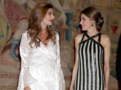 Recepción en el Palacio: la Reina Letizia y Juliana Awada sacan sus mejores galas