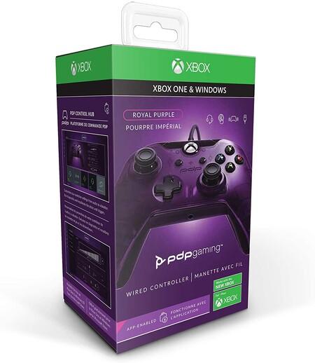 Control alambrico morado PDP Xbox One