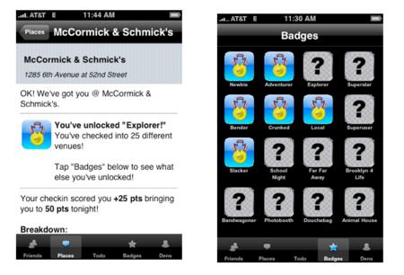 Foursquare cumple cuatro años: así fue su primer prototipo