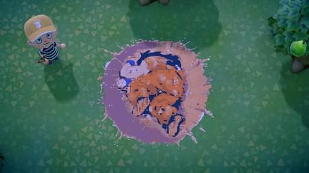 La icónica pose de Yamcha tirado en el suelo de Dragon Ball Z se ha recreado a la perfección en Animal Crossing: New Horizons