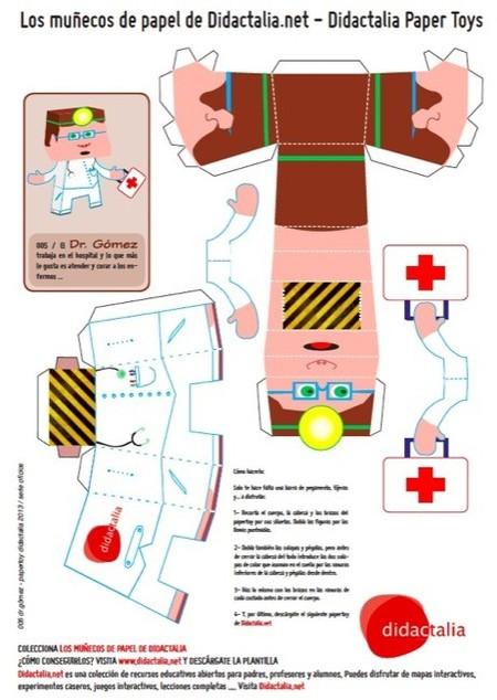 Los muñecos de papel de Didactalia son coleccionables y permiten aprender jugando con ellos