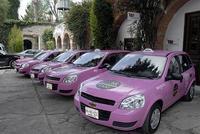 Puebla recibe a los nuevos taxis rosas