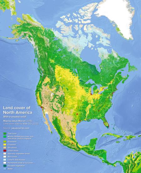 Mapa America Del Norte
