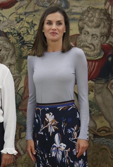 Doña Letizia Ortiz apuesta (de nuevo) por un total look de Hugo Boss que ya vimos anteriormente