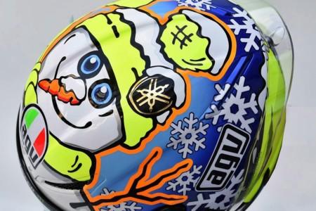 Valentino Rossi y su muñeco de nieve. ¿El italiano se busca nuevos amigos?