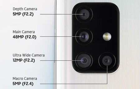 Samsung Galaxy A51 5g Camara Cuadruple