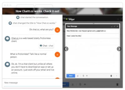 Chat.cc convierte tus correos electrónicos en una plataforma de mensajería