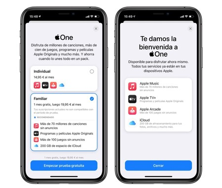 Apple One Prueba Gratuita