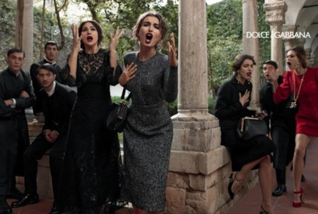 El drama de Dolce & Gabbana viene en un buen momento. Su campaña Otoño-Invierno 2013/2014 me convence, ¿y a ti?