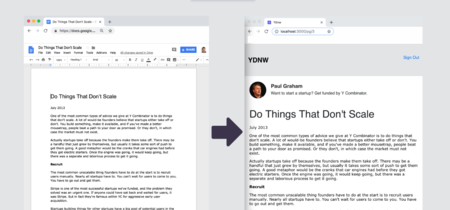 'You Don't Need WordPress', o cómo crear un blog usando solo Google Docs