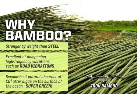 Bambú en bicicletas