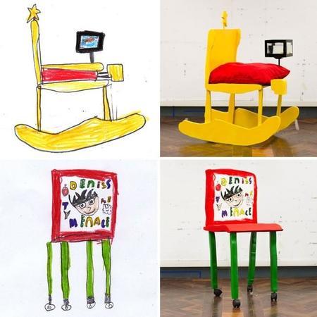 Los diseñadores que hacen reales las sillas dibujadas por niños de ocho años