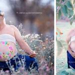 La preciosa (e hilarante) sesión de fotos de un hombre a poco tiempo de ser padre