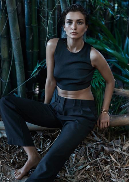 Mango negro catalogo verano 2014 Andreea Diaconu