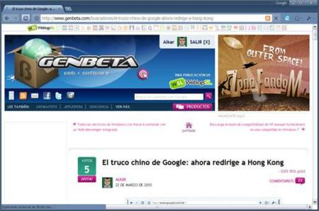 Chrome en uso