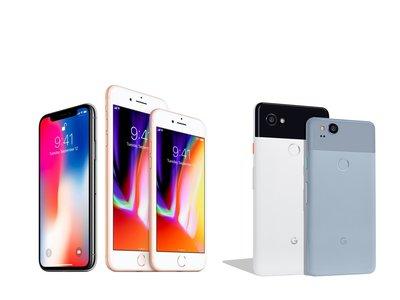 Así quedan los Google Pixel 2 y Pixel 2 XL frente a los iPhone 8, iPhone 8 Plus y iPhone X