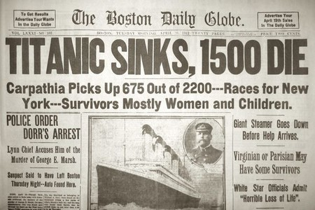 Titanic Newspaper Headline Small