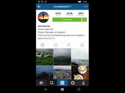 Instagram Beta en Windows 10 Mobile: así es su nueva actualización