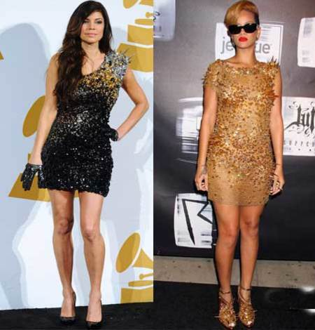 Vestido de The Blonds: ¿Fergie o Rihanna?