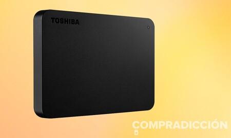 Un disco duro portable superventas como el Toshiba Canvio Basics de 1 TB sólo cuesta 54,99 euros en Amazon o MediaMarkt
