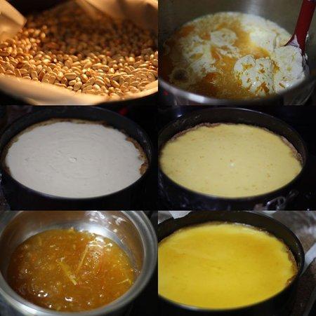 Receta de tarta de queso y naranja. Pasos