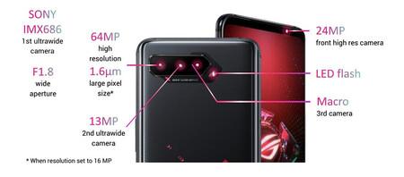 Asus Rog Phone 5 Pro Ultimate Camaras
