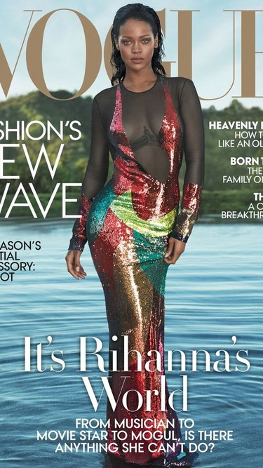 Rihanna una psicodélica venus saliendo de las aguas fotografiada por Alas & Pigott