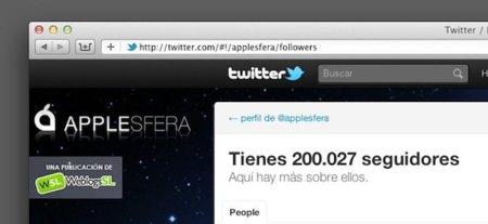 Applesfera llega a los 200.000 followers en Twitter: OMG!!!