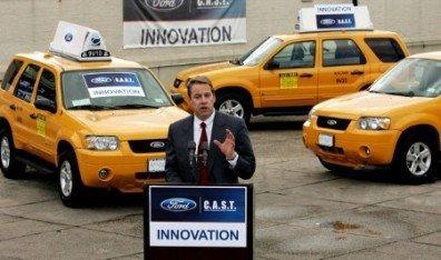 Taxis Ford híbridos en Nueva York