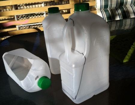 botellas leche herramientas