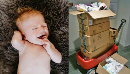 Regalan 204 muselinas a la UCIN que salvó la vida de su bebé, para reconfortar a otros niños que luchan por sobrevivir