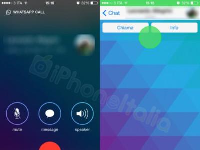 Este es el aspecto que pueden tener las llamadas VoIP de WhatsApp en iOS