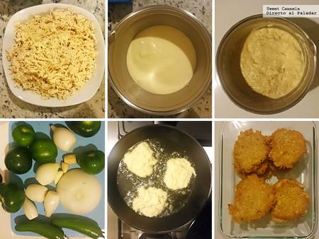 Tortitas De Pollos En Salsa Verde