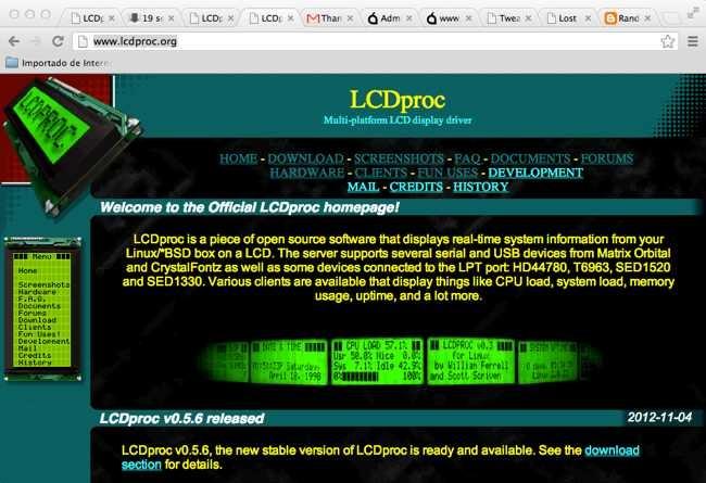 Página web de LCDproc