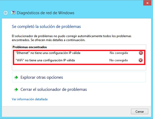 Diagnostico De Red De Windows