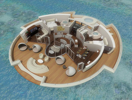 Interior Solar Floating Resort