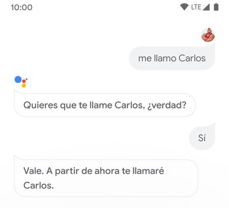 Nombre Asistente Google