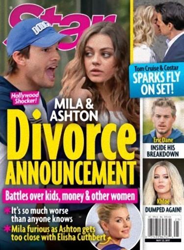 Mila y Ashton son historia