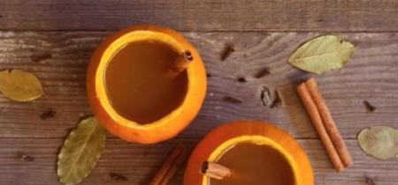 En Halloween utiliza pequeñas calabazas como copas