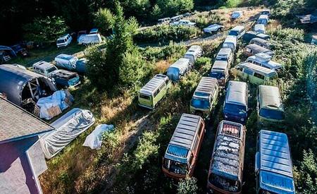 Coleccion de 55 Volkswagen Transporter clásicas, a la venta