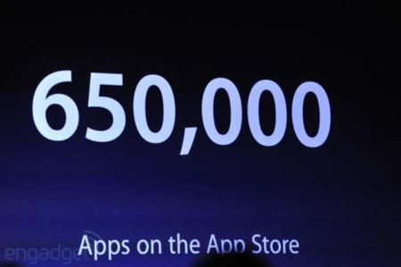 Se han vendido 350 millones de dispositivos iOS. La App Store supera las 650.000 aplicaciones