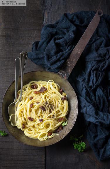 Cómo hacer espaguetis carbonara. Receta