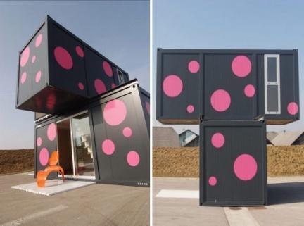 Casas poco convencionales vivir en un bloque de contenedores - Contenedores para vivir ...