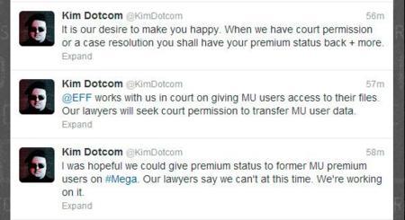Los usuarios de Megaupload Premium no serán recuperados en Mega, de momento