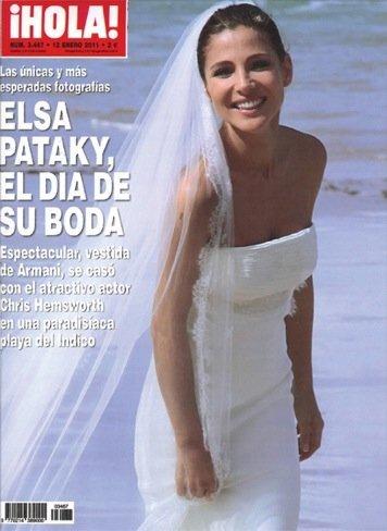 El vestido de boda de Elsa Pataky