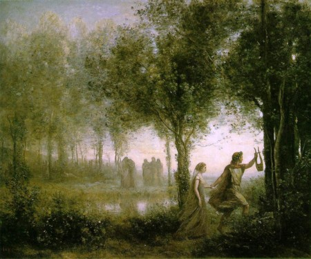 000 Jean Baptiste Camille Corot Orpheus Leading Euridice From