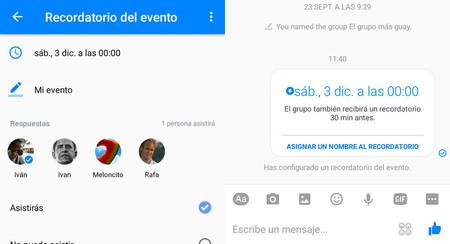 Cómo crear recordatorios en Facebook Messenger