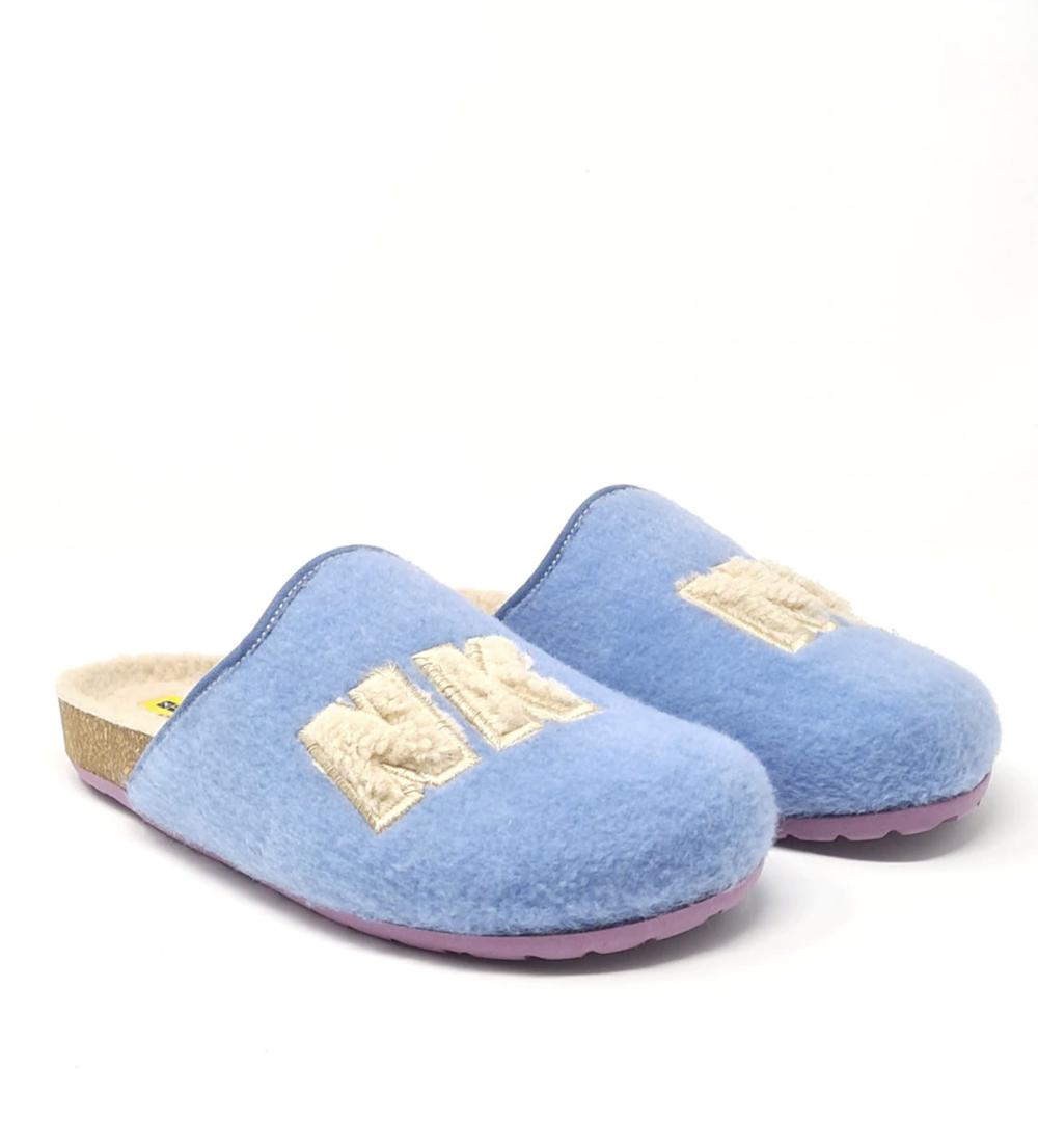 Zapatillas de casa de mujer Nordikas destalonadas de color azul